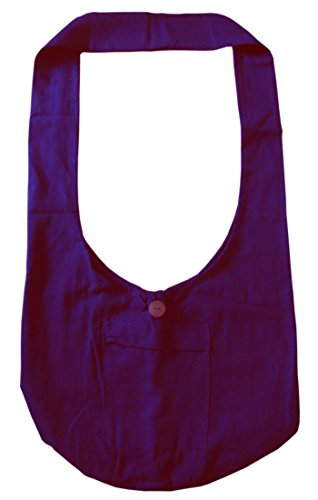Lofbaz Donna Elefante Cotone Crossbody borsa Blu Solido Viola