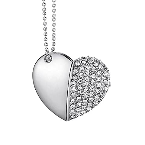 8GB Heart Diamond High Speed USB2.0 Flash Storage Drive Memory Pen Stick Flash Disk Pendrive