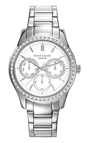 Pierre Cardin Reloj Multiesfera para Mujer de Cuarzo con Correa en Acero Inoxidable PC106952F23