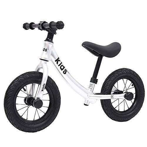 Prima Bicicletta Bici leggera dell'equilibrio per la bici dei bambini per le ragazze & i ragazzi a 12 pollici Classica leggera senza pedali bambini a piedi bicicletta W / altezza regolabile sedile e m