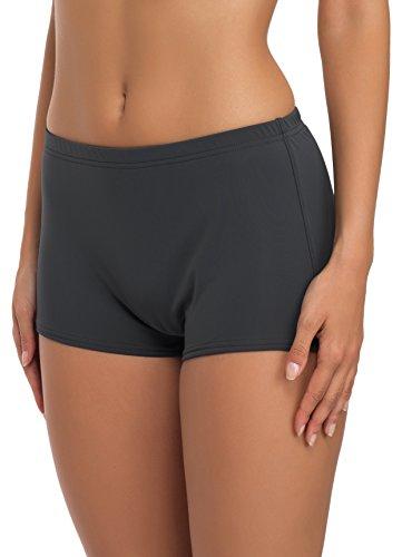 Merry Style Damen Badeshorts Bikinihose Modell L23L1 (Graphit (9154), 46)