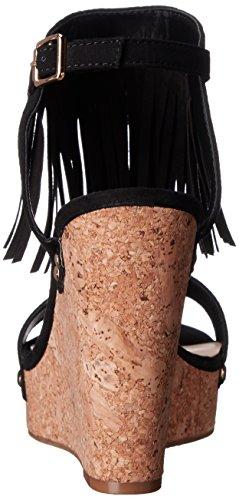 Fergalicious Vinni Toile Sandales Compensés Black