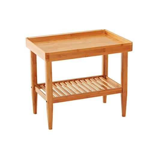 GLJ Paar Ecken des Sofas Ein Paar Tische Ikea Modernen Minimalistischen Bambus Wohnzimmer Startseite Tee Tisch Kleinen Quadratischen Tisch Couchtisch Klapptisch (Größe : 50*36*45CM)