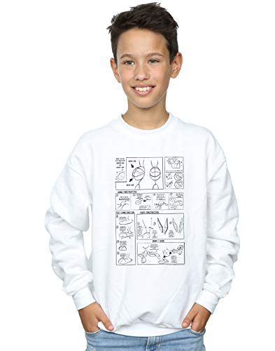 Absolute Cult Looney Tunes Jungen Bugs Bunny Construction Sweatshirt Weiß 5-6 Years -