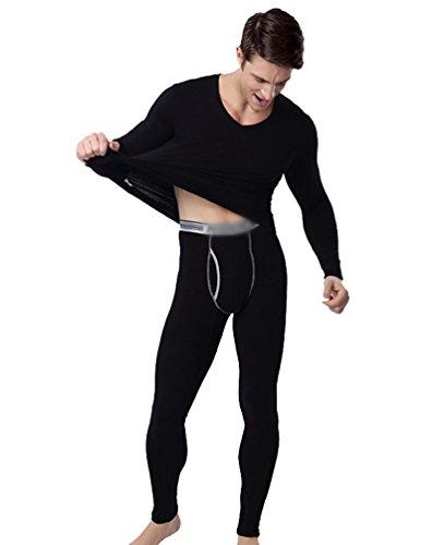 acdddeae0 Yiiquan Hommes Ensemble de sous-vêtements Thermiques Chaud Hiver sous-Pull  T-Shirt Pantalon