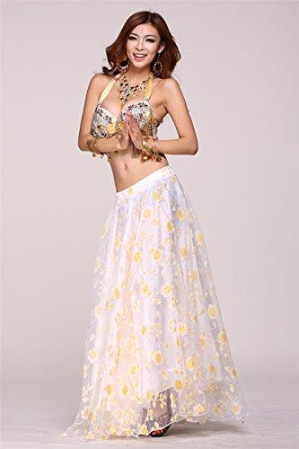 Dancewear Tops reggiseno Costumes Bead Fringe reggiseno paillettes Top Danza del ventre Costume Gold