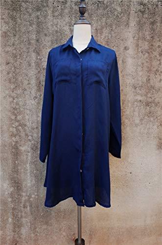 MINGFENG Badeanzug 2 STÜCKE Strand vertuschen Robe Tasche Badeanzug vertuschen Sarong Strand Shirt Tops Badeanzug Frauen Beachwear Pareo Tunika, Größe: One Size (weiß) (Farbe : Blue) (Badeanzug Sarong Vertuschen)
