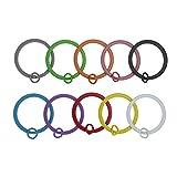 Coolcoco 25mm Bunte Metall Schlüsselring Schlüsselanhänger Ring Spaltring für Schlüssel Organisation (50 Stück für 10 Farben, Jede Farbe mit 5 Stück)