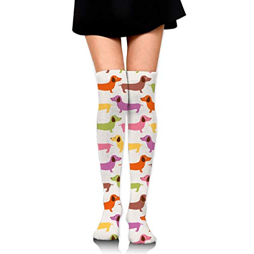 SHENGP Women Lady Girl Cartoon Cute Short Pussy Cat Knee High Fashion Comfortable Boots Socks Cotton Athletic Over The Knee Tube Socks Thigh High Stockings for Great Gifts - Purple Knee High Boots