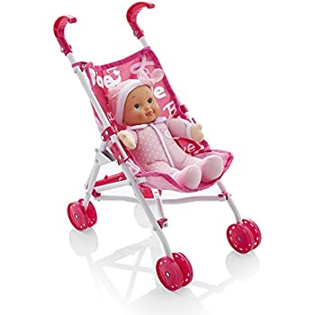 Molly Dolly My First Bambolina Doll & Stroller Set: Amazon ...