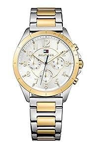 Tommy Hilfiger mujer-reloj analógico de cuarzo chapado en acero inoxidable 1781607