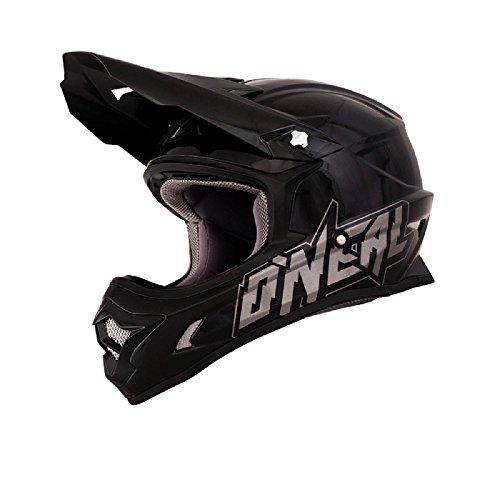 O'Neal 3Series MX Helm PLAIN schwarz Cross Motorrad Moto Cross Enduro Offroad, 0300F-10, Größe Large (59 - 60 cm)
