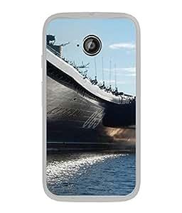 FUSON Designer Back Case Cover for Motorola Moto E :: Motorola Moto E XT1021 :: Motorola Moto E Dual SIM :: Motorola Moto E Dual SIM XT1022 :: Motorola Moto E Dual TV XT1025 (Indian Submarine Shoots Ship With Missile Training )