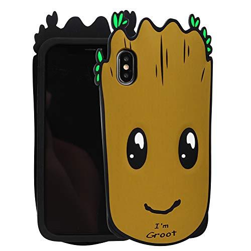 Zakao Schutzhülle für Apple iPhone X 2017 iPhone XS 5,8 Zoll 2018, modisch, süßes 3D-Cartoon-Einhorn-Design, Weiches Silikon, stoßfest, kompatibel mit Apple iPhone X/XS, 5,8 Zoll (12,7 cm), 36 -