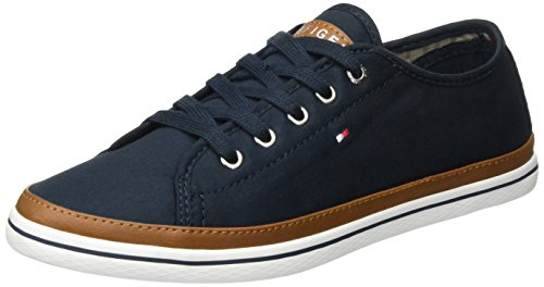 Tommy Hilfiger Women's K1285esha 6d Low-Top Sneakers, Blue (Midnight 403), 7.5 UK