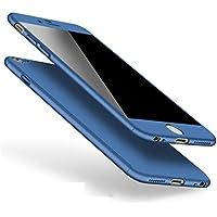 iPhone 6 6s Hülle 360 Grad Full Body Case Shockproof Protective Cover + Tempered Glas Schutzfolie Handyhülle Backcover Hartschale Schutzhülle Rückseite für iPhone 6/6S Etui Schale