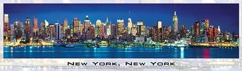 New York Skyline Glow in the Dark Panoramic Puzzle - 750-Piece