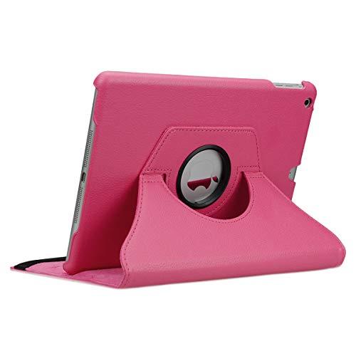 doupi Deluxe Schutzhülle für iPad Air 2, Smart Case Sleep/Wake Funktion 360 Grad drehbar Schutz Hülle Ständer Cover Tasche, pink -