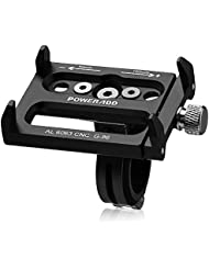 Poweradd Support Vélo Smartphone Support Vélo Du Guidon pour Smartphone GPS avec Longueur Réglage Compatible avec Iphone, Samsung,Huawei,Xiaomi,etc - Noir