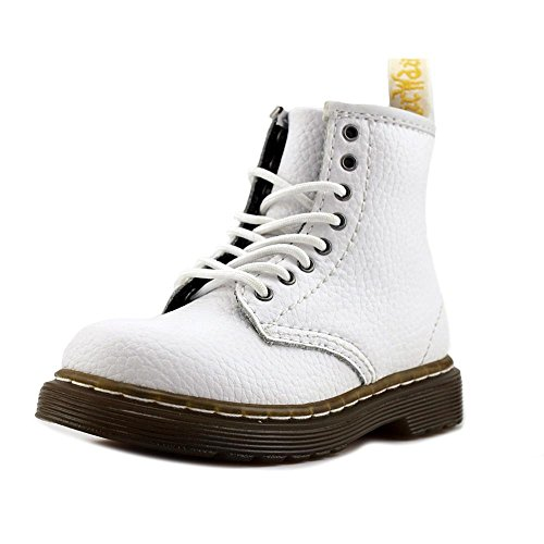Dr. Martens Kid's Brooklee 8-Eye Fashion Boots, White, Leather, 7 Toddler M UK, 8 M US