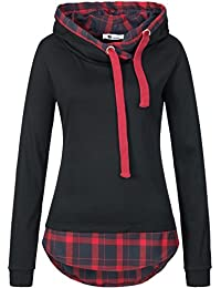 Zarlena Damen Kapuzenpullover Hoodie Sweatshirt Pullover Sweater
