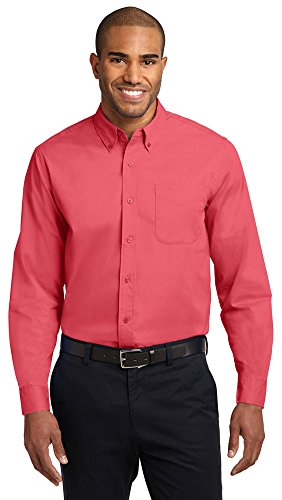 Port Authority Men's Big And Tall Easy Care Shirt - Navy Red Royal Stone
