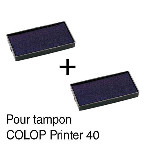 2-Tampón tinta recambio tampones COLOP Printer 40