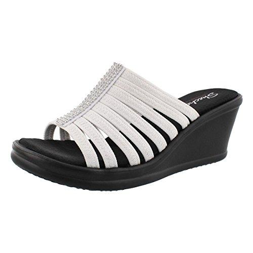 skechers-cali-womens-rumblers-hot-shot-wedge-sandal-white-6-m-us
