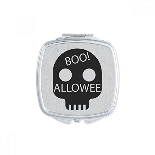 DIYthinker Einfach Skull of Halloween Square Compact Make-up Taschenspiegel Tragbar Niedliche Kleinen Hand Spiegel Geschenk (Niedliche Halloween Make-up Und Einfache)