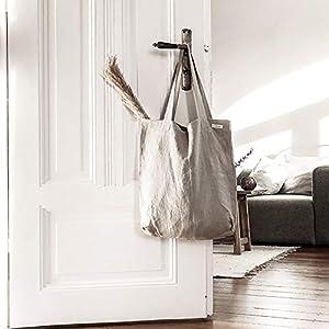 Leinen Tasche Smilla beige, Leinentasche groß, Leinenbeutel, Jutebeutel weich, Einkaufstasche