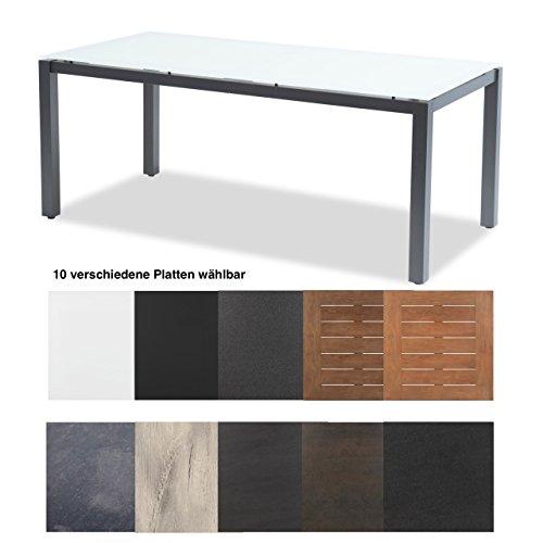 Hartman Tisch Imperial 180 x 90 cm Aluminium xerix Tischgestell Platte wählbar HPL White Oak 13 mm