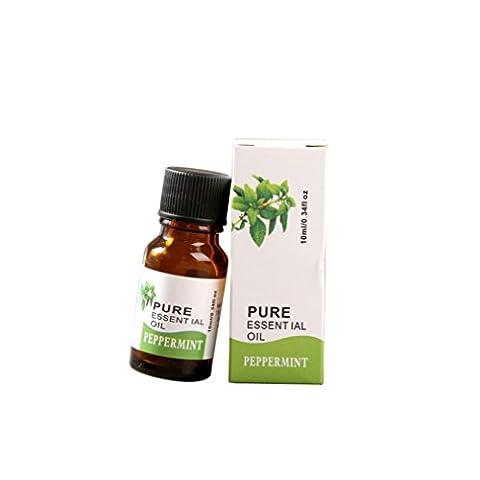 Huile Essentielles,Moonuy 10 ml 100% pure & Natural Herb fruit huiles essentielles arôme aromathérapie soins de la peau Spa et soins de famille (D)
