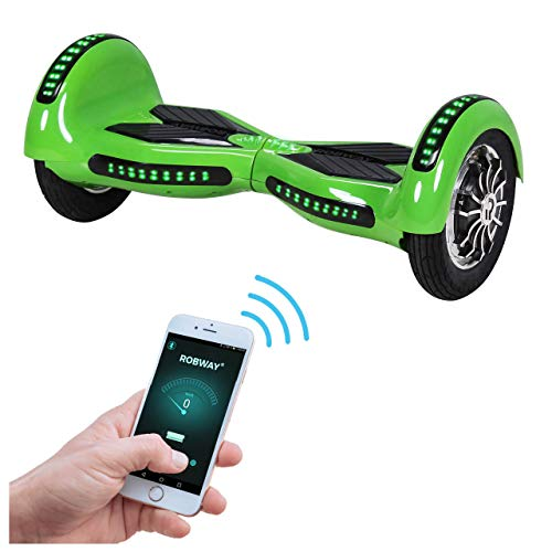 Robway W3 Hoverboard - Das Original - Samsung Marken Akku - Self Balance - 21 Farben - Bluetooth - 2 x 400 Watt Motoren - App - LED (Grün)