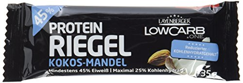 Layenberger LowCarb.one Protein-Riegel Kokos-Mandel, 1er Pack (18 x 35 g)