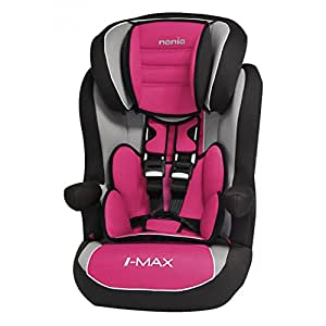 Mycarsit Isofix Car Seat, Group 1/2/3(from 9to 36kg), Raspberry Pink