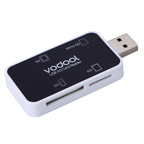 UEB Super Speed USB 3.0 Kartenleser 4 in 1 USB Kartenlesegerät(SDHC/SD/TF/XC/MSXC/MS/M2) USB 3,0 digital memory card Reader/writer Memory Card Reader Usb