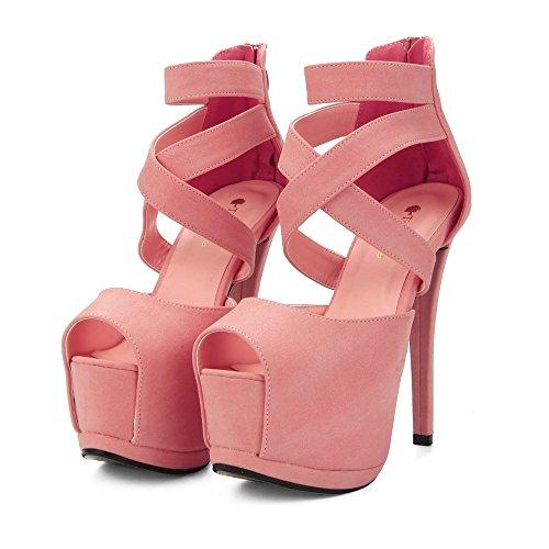 Minetom Elegante Sexy Tacchi A Stiletto Della Piattaforma Delle Donne Attraversano Pompe Cinturino Alla Caviglia Scarpe Evening Shoes Wedding Party Club Disco Arancione