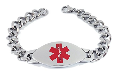 max-petals-xarelto-medical-alert-id-heavy-stainless-steel-mens-bracelet-with-203mm-chain