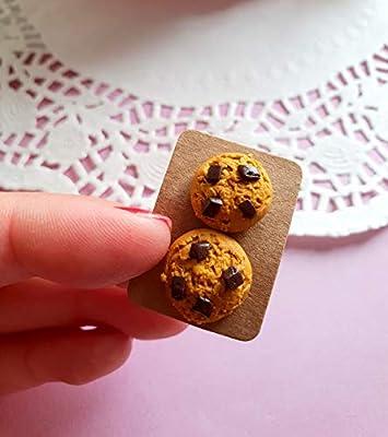 Boucles d'oreilles cookie bijoux gourmands fimo