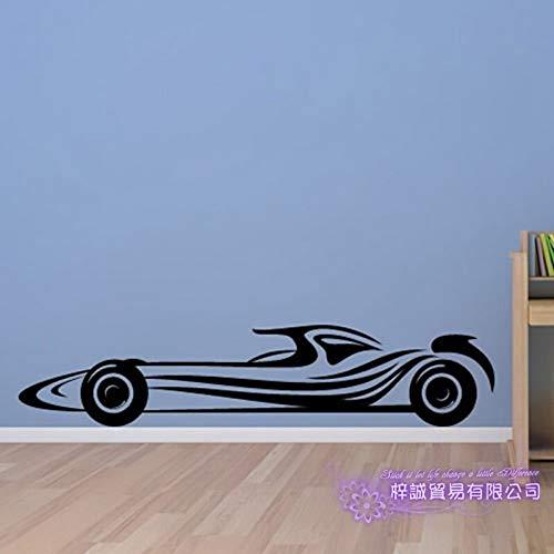 zxddzl F1 Auto Aufkleber Fahrzeug Aufkleber Formel Racing Autos Poster Vinyl Wandtattoos Pegatina Decor Wandbild Auto Aufkleber-120x25 cm