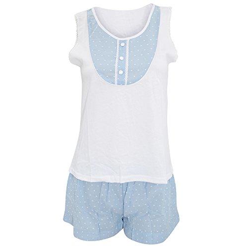 Ensemble de pyjama - Femme Blanc/Bleu