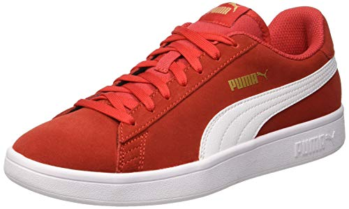 Puma Puma Smash v2, Unisex-Erwachsene Sneakers, Rot (High Risk Red-Puma White-Puma Team Gold), 43 EU