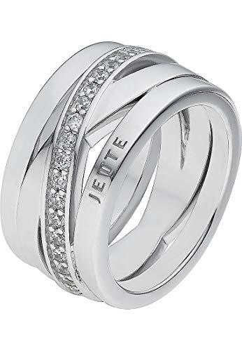 JETTE Silver Damen-Ring Wrapping 925er Silber 40 Rund silber, 53 (16.9)