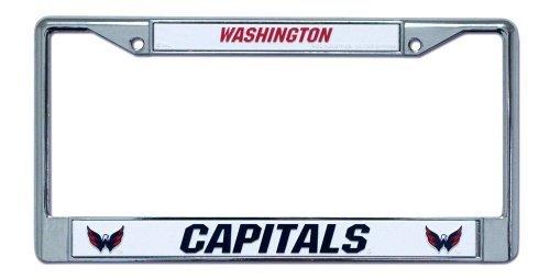 Washington Capitals chrom License Plate Frame by Hall of Fame Memorabilia