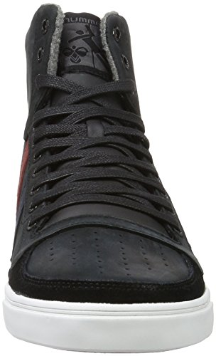 Hummel Slimmer Stadil Duo Oiled High, Sneakers Hautes Mixte Adulte Noir (Black)