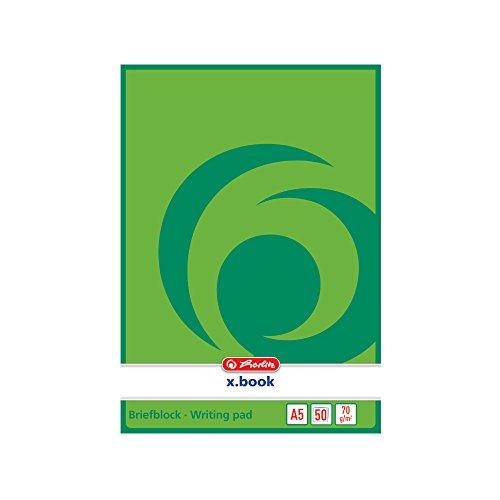 Herlitz 717504 Notizblock A5, blanko, 50 Blatt, weiß (Block App)