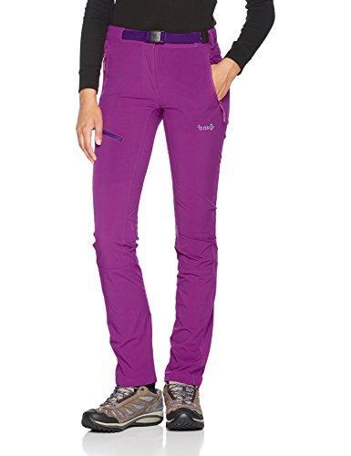 Izas Forata Pantalones Mount-Stretch, Mujer, Morado Oscuro, L