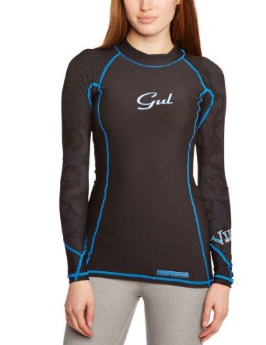Gul Women's Viper Recore Long Sleeve Thermal Rash Guard - Black, Size 16