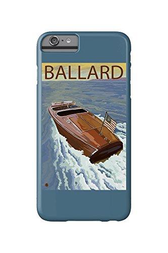 Ballard, Seattle, Washington - Chris Craft Boat (iPhone 6 Plus Cell Phone Case, Slim Barely There) (Ballard Seattle, Washington)