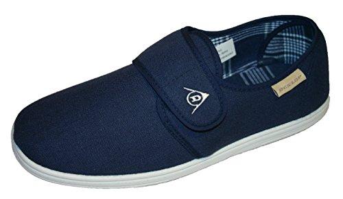 Dunlop Men's Velcro Comfort Fastening Pump Trainer Loafers Sizes 7-12 (10 UK, Navy)